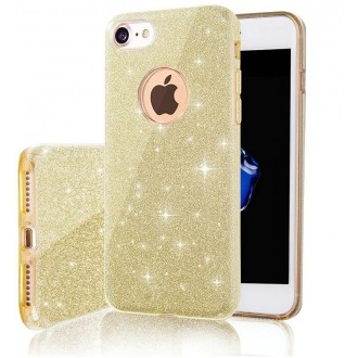 Glitter 3in1 case for iPhone 7 / 8 / SE 2020 gold
