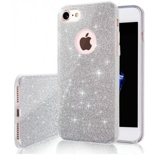 Glitter 3in1 case for iPhone 7 /  8 / SE 2020 / silver