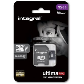 Integral memory card microSDHC Ultima PRO (32GB   class 10   UHS-I   90 MB/s) + adapter