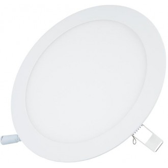 LED Slim panel light round 18W 3000K