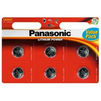 Panasonic lithium battery CR2025 - 6 pcs blister
