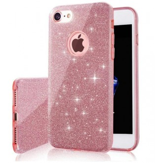 Glitter 3in1 case for iPhone XS Max pink