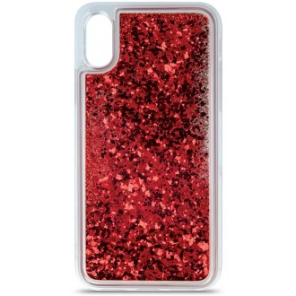 Liquid Sparkle TPU case for Huawei P30 Lite red