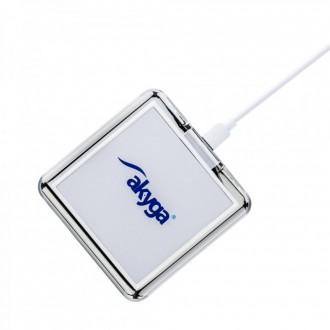 Akyga wireless charger QI AK-QI-02 white