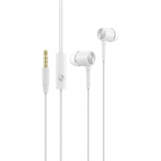 Devia wired earphones Cool white