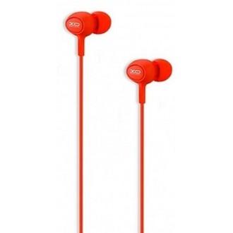 XO Wired earphones S6 jack 3,5mm red
