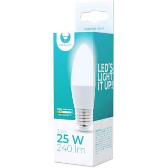 LED Bulb E27 C37 3W 230V 3000K 240lm Forever Light