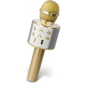 Maxlife MX-300 microphone with bluetooth speaker gold