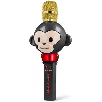 Maxlife Animal MX-100 microphone with bluetooth speaker black