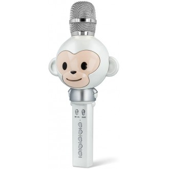 Maxlife Animal MX-100 microphone with bluetooth speaker white