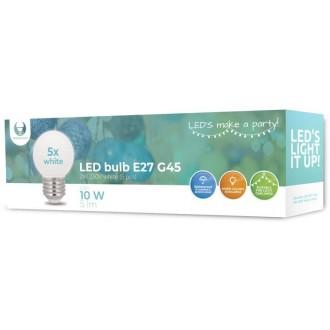 LED Bulb E27 G45 2W 230v white 5pcs Forever Light