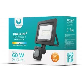 Floodlight LED PROXIM II 10W |4500K| PIR IP66 Forever Light