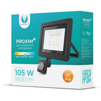 Floodlight LED PROXIM II 20W |4500K| PIR IP66 Forever Light
