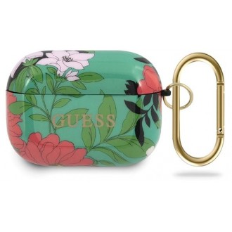 Guess Airpods Pro etui GUACAPTPUBKFL01 green Flower Collection
