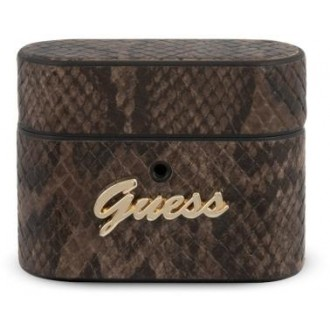 Guess Airpods Pro case GUACAPPUSNSMLBR brown Python Collection