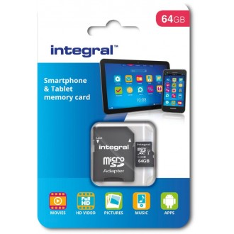 Integral memory card  64Gb microSDHC/XC Class 10 UHS-I U1 Smartphone and Tablet