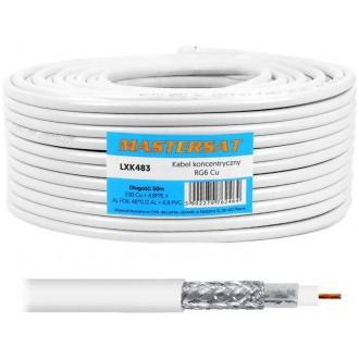 Coaxial cable 1Cu 48x0,12AL 50m