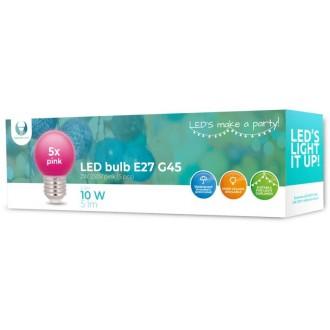 LED Bulb E27 G45 2W 230V pink 5pcs Forever Light