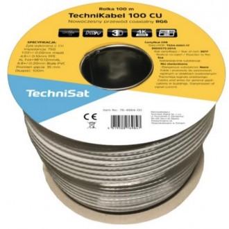 Coaxial cable Technisat CE HD-100 CU RG6 100m biały 76-4984-00